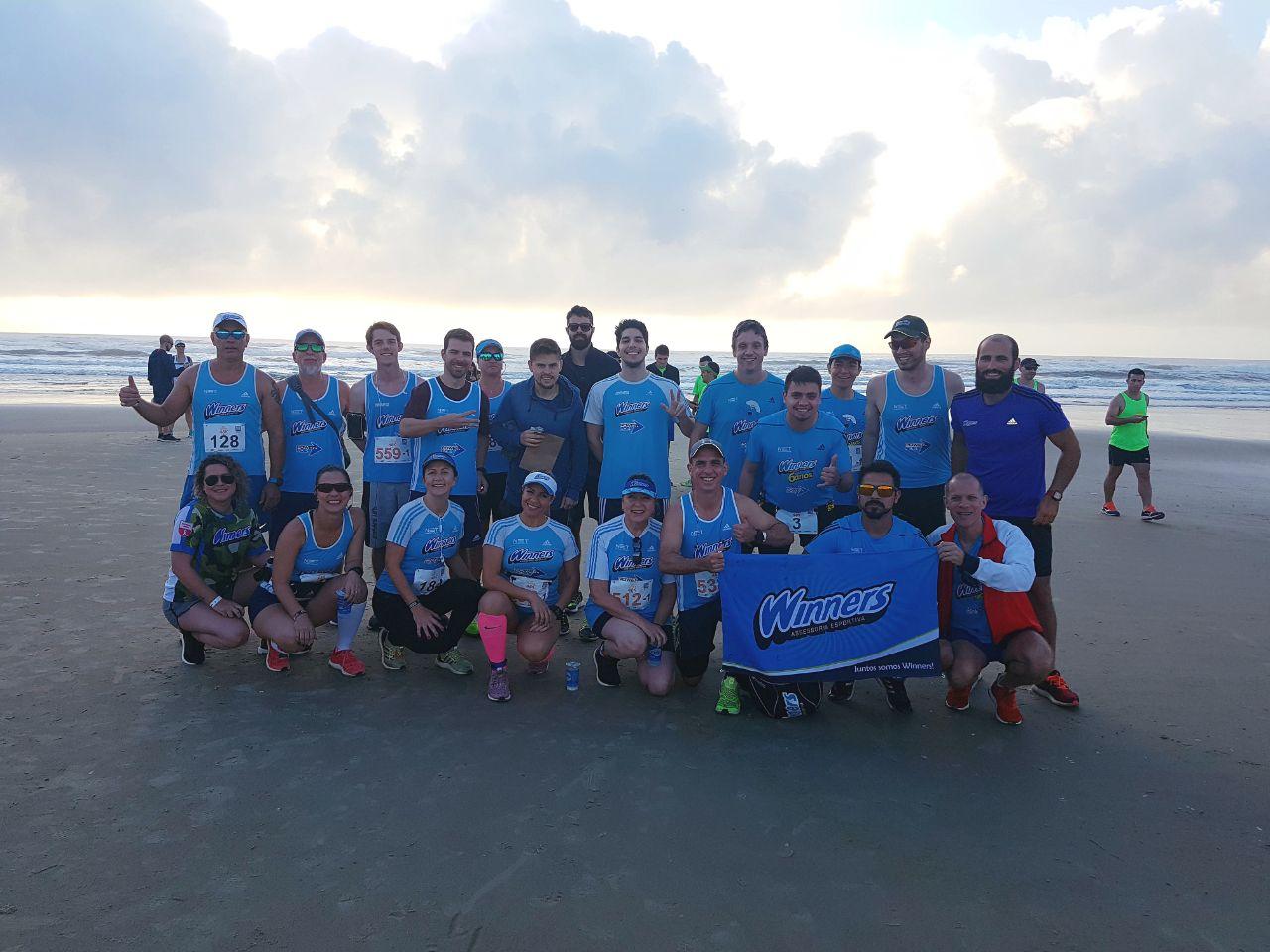 Equipe Winners na praia